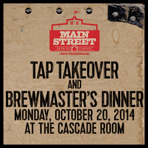 Tap Takeover and Brewmaster's Dinner