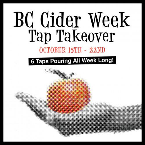 BC Cider Week Tap Takeover