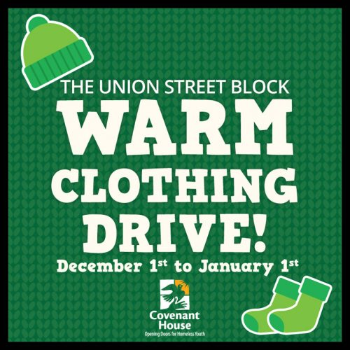 THE UNION STREET BLOCK WARM CLOTHING DRIVE!