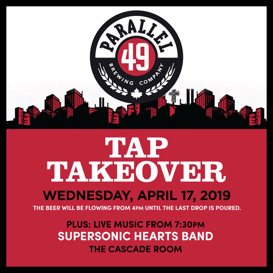PARALLEL 49 TAP TAKEOVER