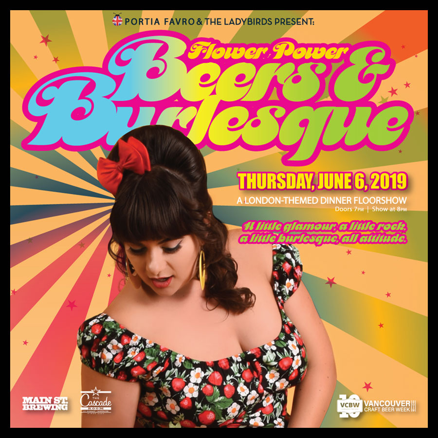 Portia Favro & The Ladybirds Present: FLOWER POWER – BEERS & BURLESQUE